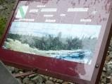 Tablica informacyjna, platforma widokowa na Świętym Krzyżu.