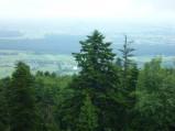 Widok z platformy widokowej na Łysej Górze