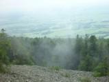 Widok z platformy widokowej, Huta Szklana