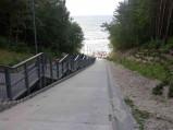 Schody wejście na plażę nr 23, Jastrzębia Góra