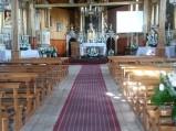 Wnętrze kościoła parafialnego p.w. św. Wojciecha w Jeruzalu