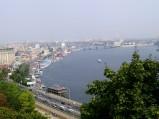Statki, Dniepr i most Havansky, Kijów