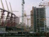 Wieżowce przy Stadionie w Kijowie