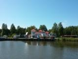 Nabrzeże kanału w Łebie