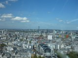 Charing Cross Station i BT Tower, widok z London Eye w Londynie