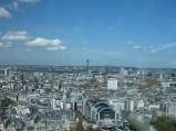 Charing Cross Station i BT Tower, widok z London Eye w Londynie