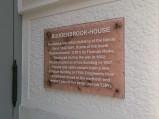 Tablica pamiątkowa Dom Buddenbrooków, Lubeka