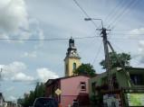 Wieża kościoła w Lubichowie