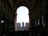 Widok z korytarza Galerii, Mediolan