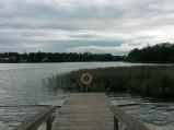 Miejsca dla łodzi przy molo w Mrągowie