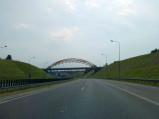 Dojazd do mostu nad A1 w Mszanie