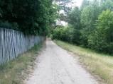 Droga przy jeziorze Tyrsko w Olsztynie