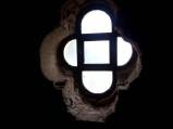 Okienko w wieży widokowej w Orchówku