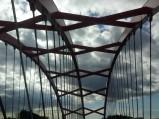 Konstrukcja mostu nad kanałem w Ostródzie