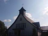 Fasada kościoła w Ostrowie