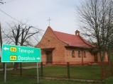 Kaplica p.w. św. Brata Alberta, drogowskaz Rudka