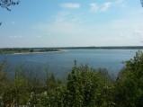 Widok z punktu widokowego, na ujście Bugu do Narwi w Serocku