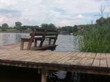 Pomost przy kąpielisku w Spychowie