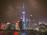 Wieża telewizyjna, nocą w Szanghaju