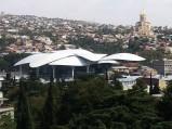 Nowoczesny budynek Ministerstwa Sprawiedliwości i Agencji Stanu Cywilnego w Tbilisi