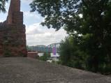Widok na most z ruin bramy, Toruń