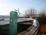 Koło sterowe na łódce Katarzynka w Toruniu