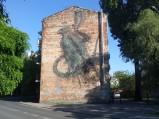 Mural na bloku na ulicy Bliskiej na Kamionku w Warszawie