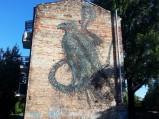 Mural na Kamionku w Warszawie