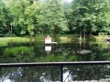 Domek dla kaczek w parku w Wejcherowie