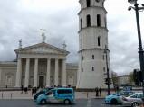 Widok na katedrę w Wilnie
