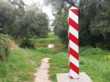 Słup graniczny, granica polsko-białoruska we Włodawie