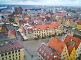 Widok z kościoła św. Elżbiety we Wrocławiu