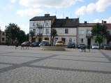 Rynek i fontanna w Wyszogrodzie