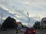 Rondo przed stadionem w Zadarze