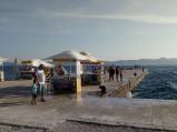 Kamienne molo w Zadarze