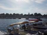Widok na most z nabrzeża portu w Zadarze