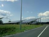 Panele słoneczne elektrowni słonecznej w Žice