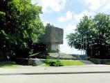 Pomnik partyzantów, punkt widokowy, Złota Góra